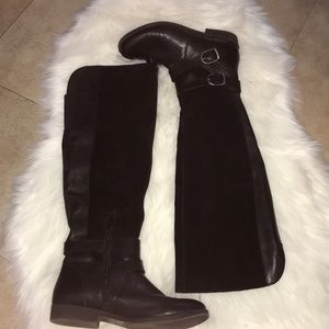 Lucky Brand Over The Knee Riding Boots